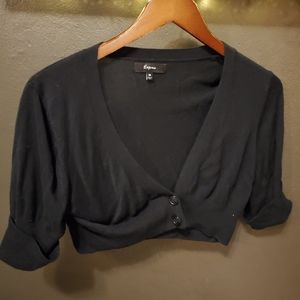 Crop black sweater